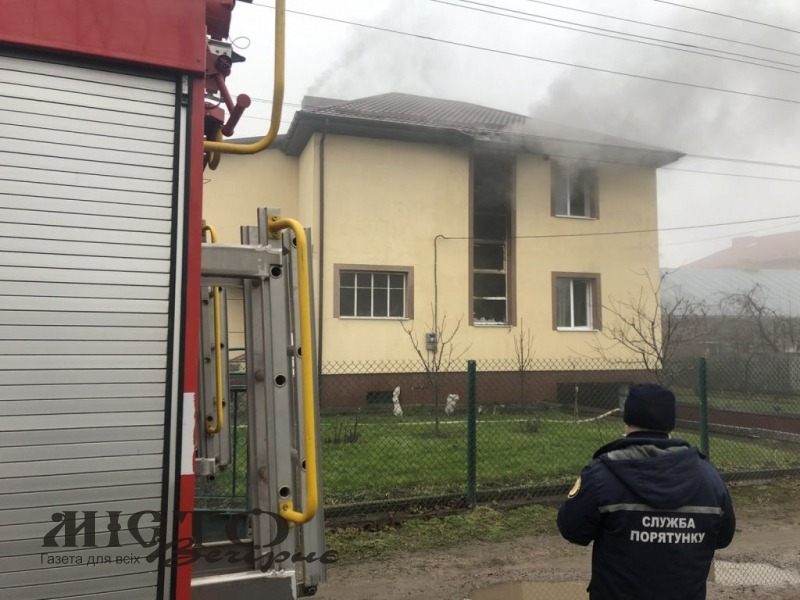 У Володимирі горів житловий будинок