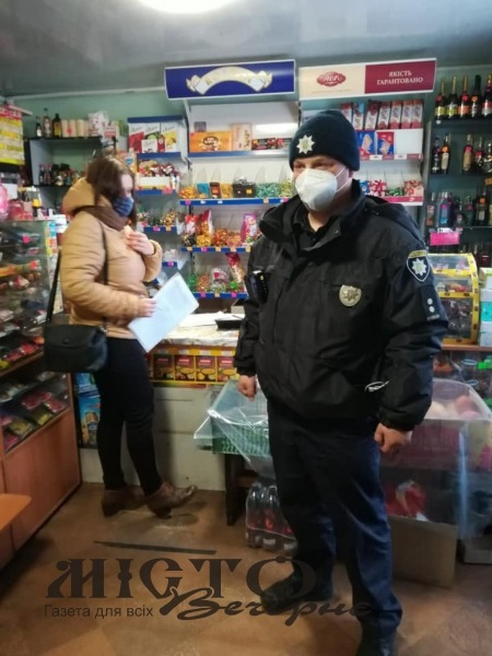 Поліція Володимира перевіряє, як в магазинах дотримуються карантинних обмежень