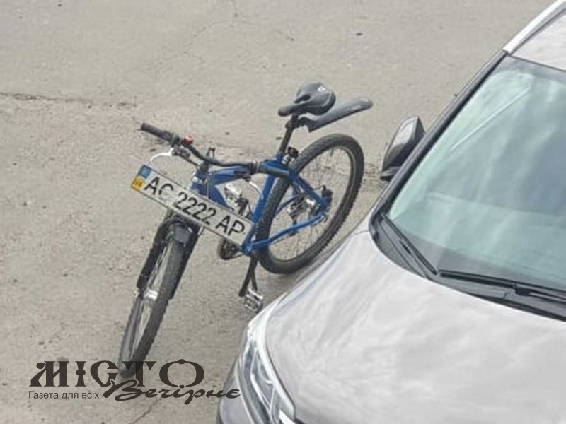 У Володимирі з'явився велосипед з номерами «2222»