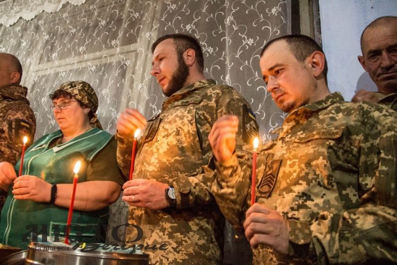 14 бригада на передовій відсвяткувала Великдень