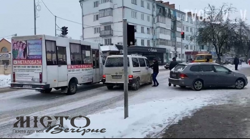 У Володимирі трапилась ДТП за участю маршрутки
