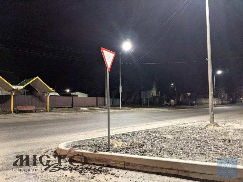 На перехресті біля танка у Володимирі встановили дорожній знак