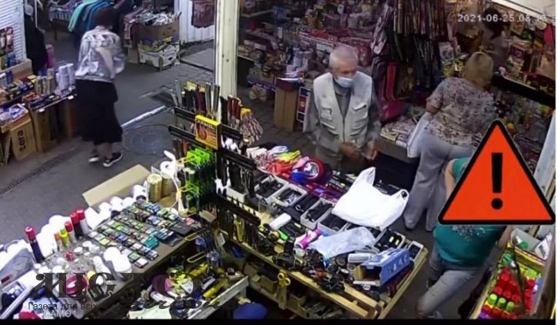 У Володимирі знайшли старшого чоловіка, який поцупив з магазину ліхтар