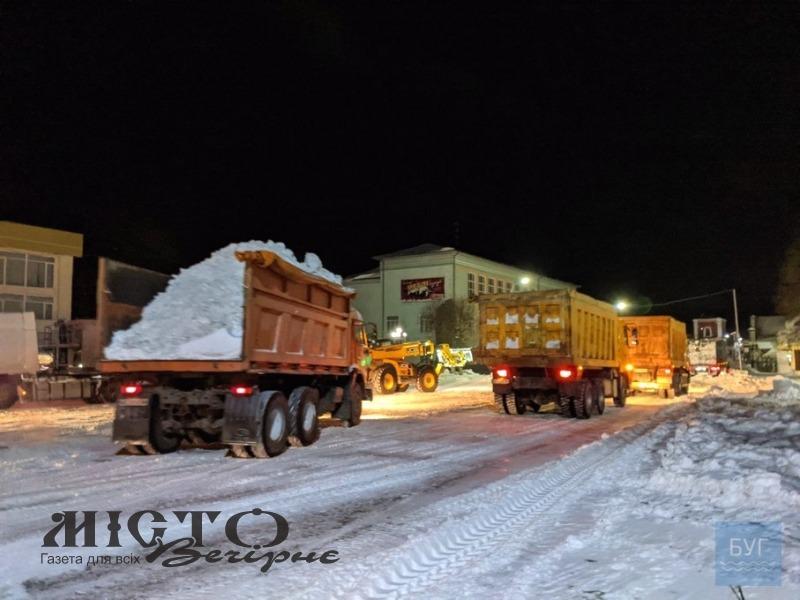 За ніч з Володимира вивезли тисячі тонн снігу