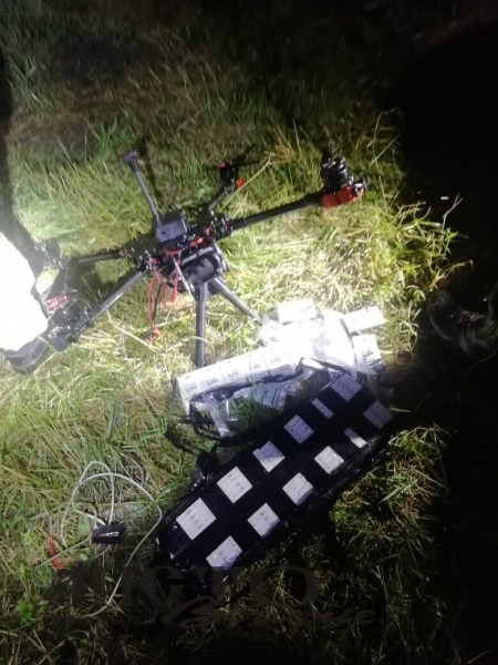 Волинські прикордонники викрили дрона, який переправляв цигарки до Польщі
