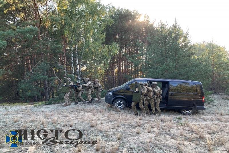 Служба безпеки України провела антитерористичні навчання поблизу кордону з Республікою Білорусь