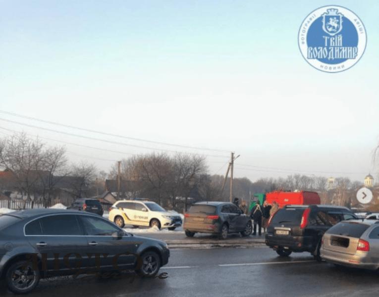 В центрі у Володимирі трапилась аварія