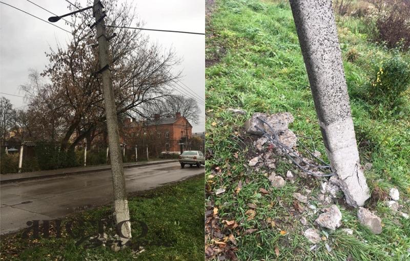 У Володимир-Волинському невідомі збили електроопору