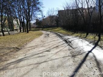 В одному з парків Володимира вільно курсують автівки