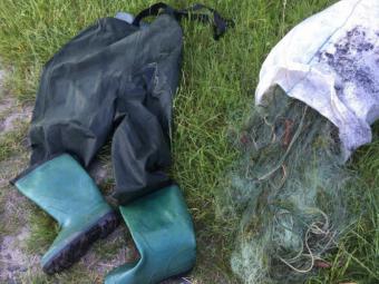 На Волині рибалки «здали» браконьєра з сітками