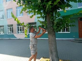 У Володимирі демонтували елементи реклами, яку встановили в неналежних місцях
