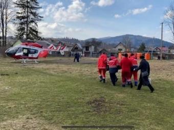 В Україні вперше пацієнтку доставили до лікарні гелікоптером