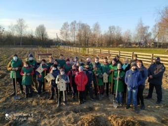У селі Галинівка школярі створили дендропарк