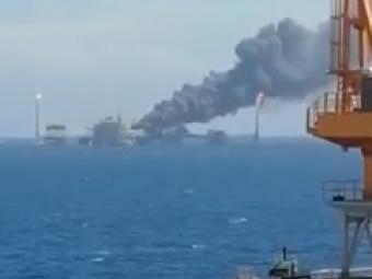 На нафтовій платформі в Мексиканській затоці стався вибух