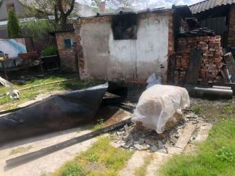 В Оваднівській громаді, через дитячі пустощі з вогнем, згоріла господарська споруда