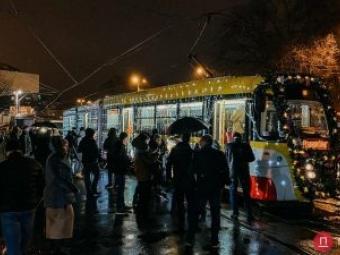 В Одесі відбувся Різдвяний парад трамваїв