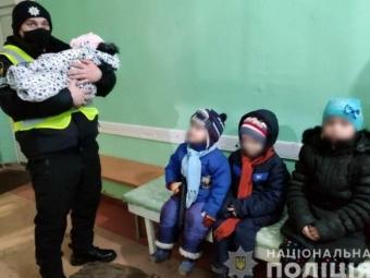На Донеччині в будинку знайшли чотирьох маленьких дітей, залишених батьками напризволяще