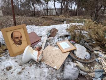 У Володимирі «декомунізували» портрет Леніна