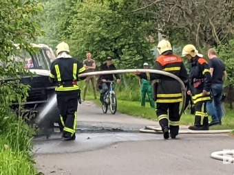 У Володимирі на ходу загорівся автомобіль