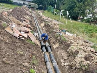 Теплоенерго у Володимирі замінює зношені трубопроводи на нові та сучасні