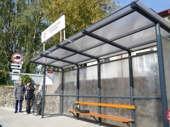 У Володимирі презентували типову зупинку громадського транспорту