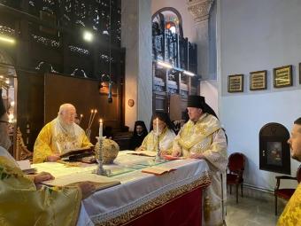 Владика Матфей співслужив за Божественною літургією Вселенському Патріарху Варфоломію