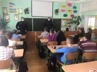 Володимир-волинські рятувальники провели просвітницьку роботу серед учнів місцевого ліцею «Центр освіти»