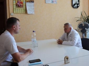 Міський голова Володимира з робочим візитом відвідав стоматполікілініку