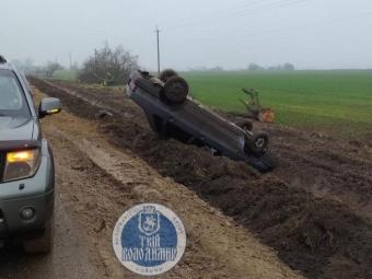 Біля Устилугу автівка злетіла з дороги та перекинулася