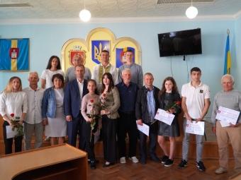 Привітали спортсменів та тренерів Володимира