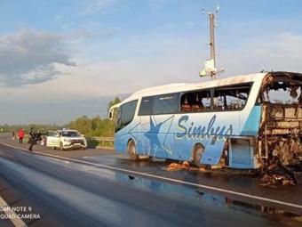 У Львівській області згорів рейсовий автобус
