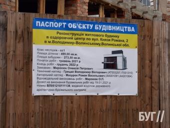 У Володимирі збудують приватний оздоровчий центр