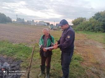 У селах Володимир-Волинського району рятувальники виявили паліїв сухого листя
