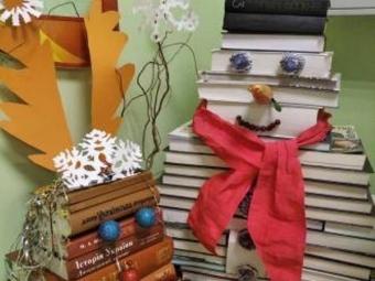 Володимир-Волинську бібліотеку прикрасили до Нового року