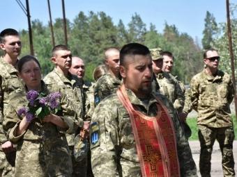 На Луганщині військові 14 бригади відкрили каплицю на честь Матері Божої