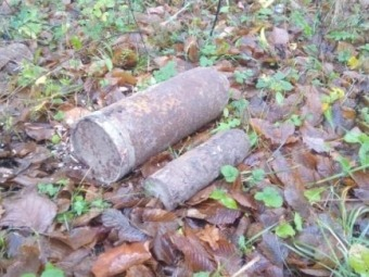 На Волині чоловік у полі знайшов мінометну міну