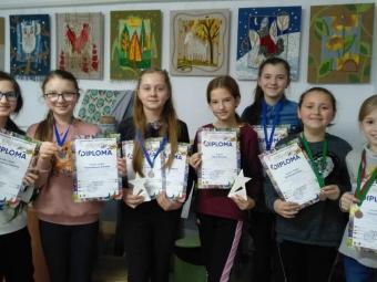На фестивалі SOLOVIOV ART 11 учнів дитячої художньої школи імені М. Рокицького здобули медалі та кубки